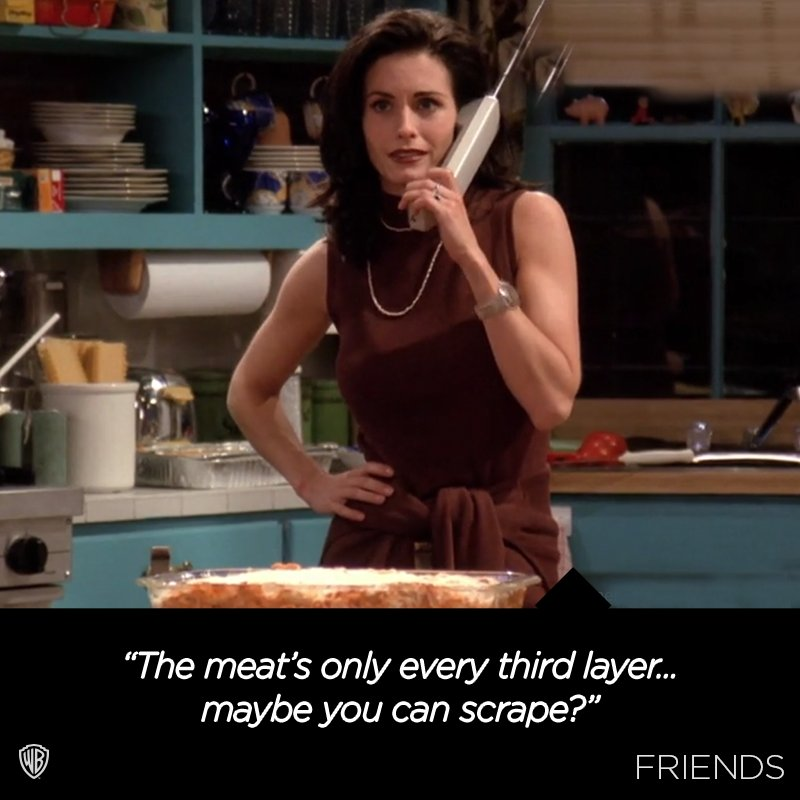 Monica's famous non-vegetarian lasagna.