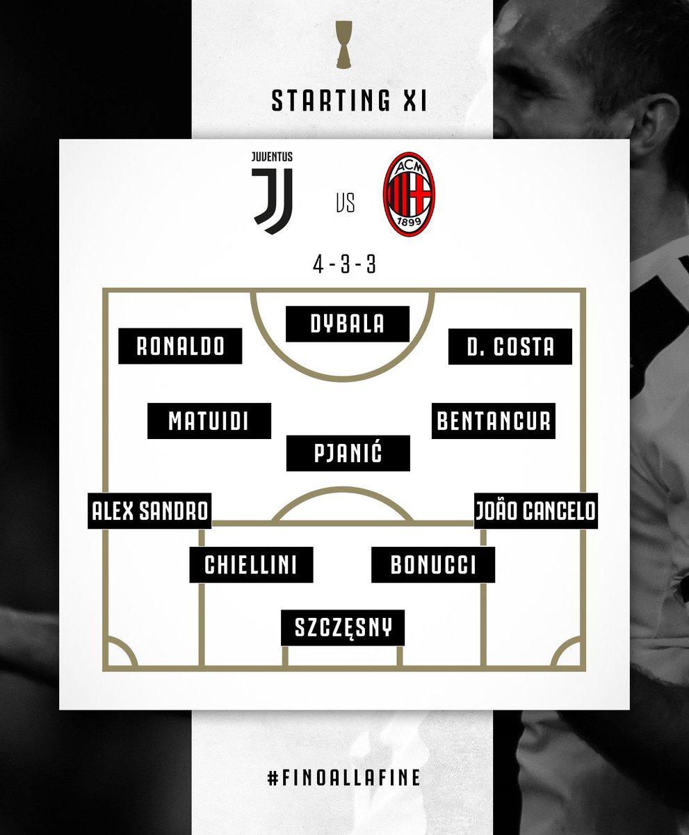 📝 Your Bianconeri XI for the #SuperCup! 👇  #JuveMilan #ForzaJuve