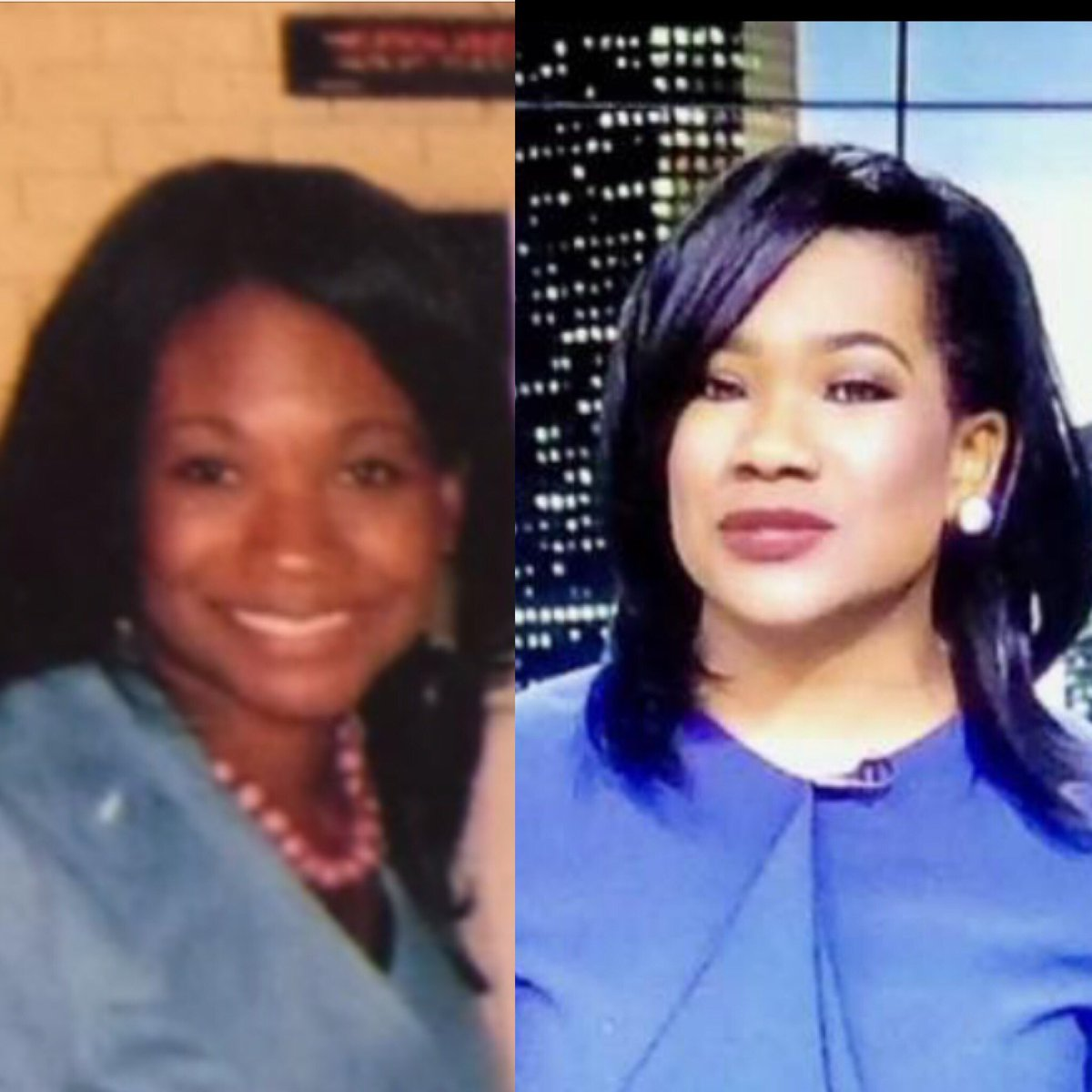 I'm so late to the party but here's my #10yearscallenge. The pic on the left, no tv makeup, no lashes, thin eyebrows. AKA, me on the weekend. Lol! #abc13 <br>http://pic.twitter.com/yCwjMJLBdw