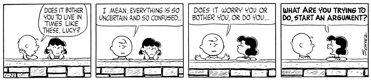 This Peanuts strip was first published on January 22, 1962. #WednesdayWisdom  <br>http://pic.twitter.com/nDXtt7q9E2