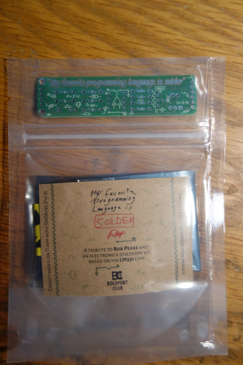 The last regular @boldport #BoldportClub project arrived today. Huge thanks to Saar, it's been an amazing journey.