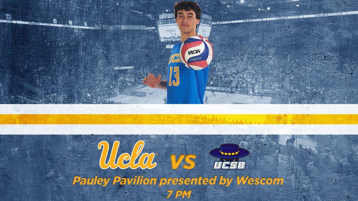 GAMEDAY! No. 6 @UCLAMVB hosts No. 12 UC Santa Barbara tonight. #GoBruins