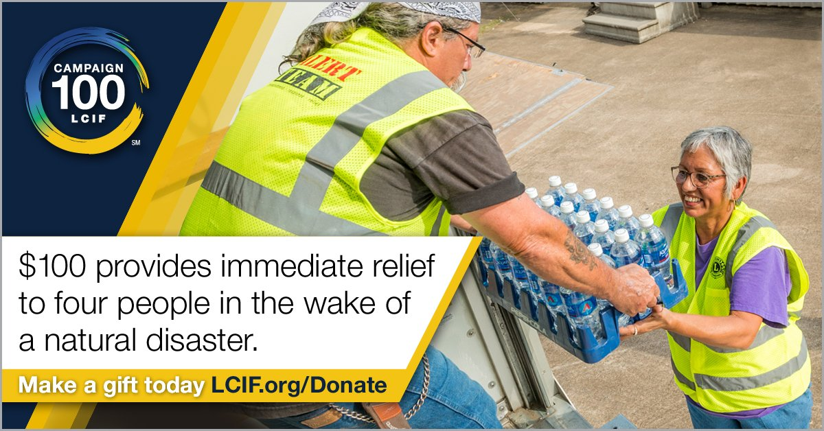 test Twitter Media - From 1970 to 2017, LCIF invested $118M in disaster-related grants. With your support of Campaign 100, we'll continue to empower Lions to serve those impacted by disasters  ➡ https://t.co/MsPPW5GF6c #BE100 https://t.co/LmXSKvnCQt