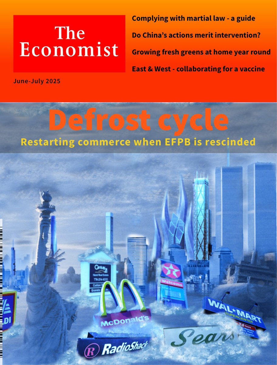 Defrost the #vaporwave and visit a world returning from the brink // @TheEconomist 2025.6 // #pandemic #Apocalypse #NYC // #sciencefiction #paralleluniverse