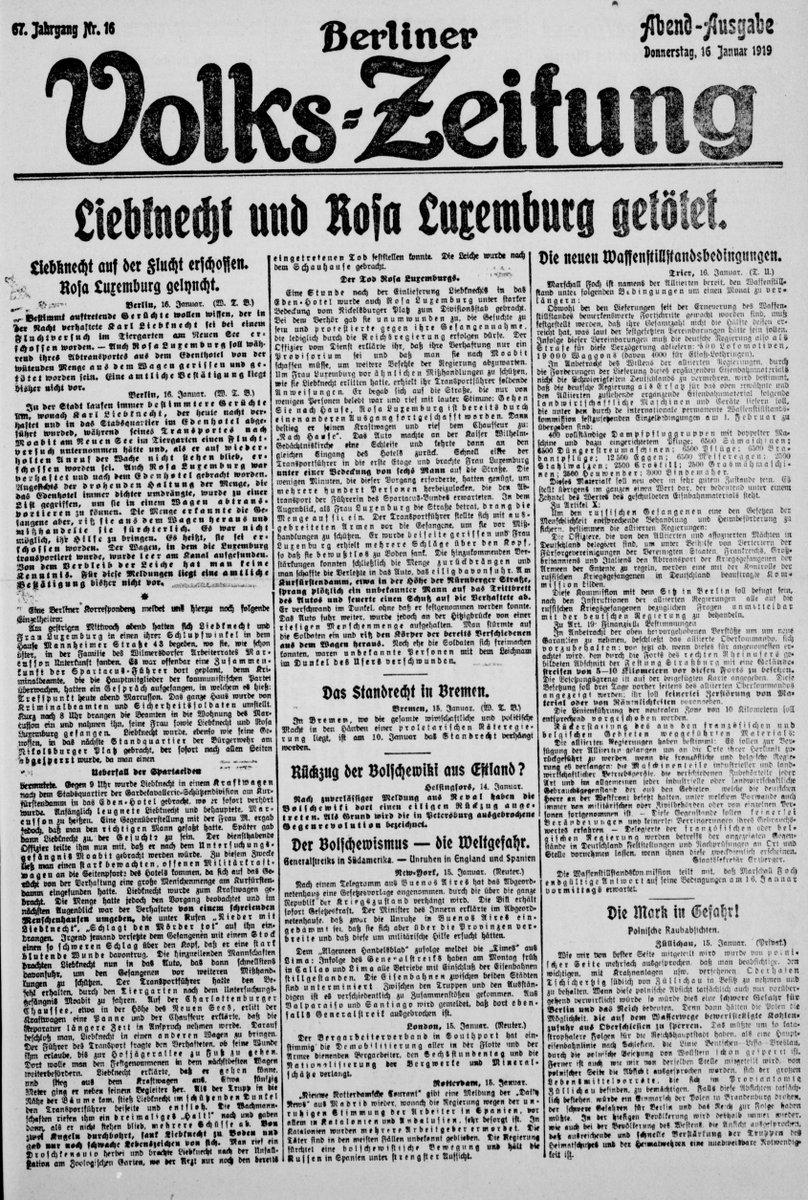 test Twitter Media - RT @Volkszeitung100: Liebknecht und Rosa Luxemburg getötet. 16.01.1919 https://t.co/JpsE9cLS0N #1919LIVE https://t.co/C8ILHsoYWs