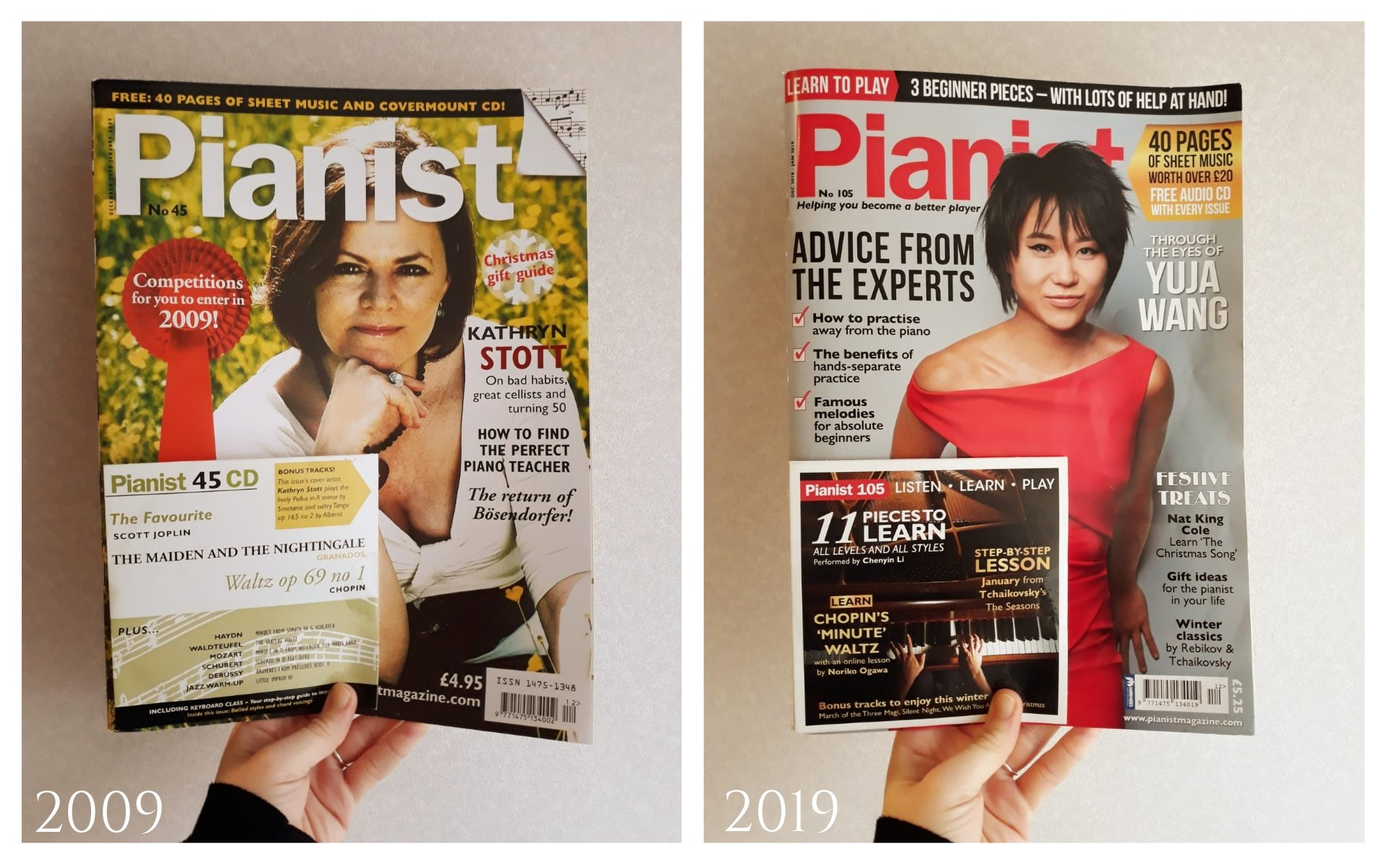 Reloaded twaddle – RT @pianistmagazine: #10YearChallenge I think we've aged well, don't you? Ƕ...