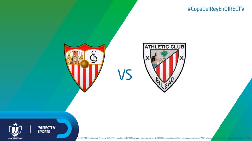 🏆🇪🇸 Sevilla busca cerrar la clasificación ante Athletic Bilbao (Global: 3-1).  Relata @SebaQuadrelli y comenta @ManuOlivari a las 16:30hs por los C614/1614HD y DIRECTV Play http://link.dtvla.com/a5aa599a #CopaDelReyEnDIRECTV