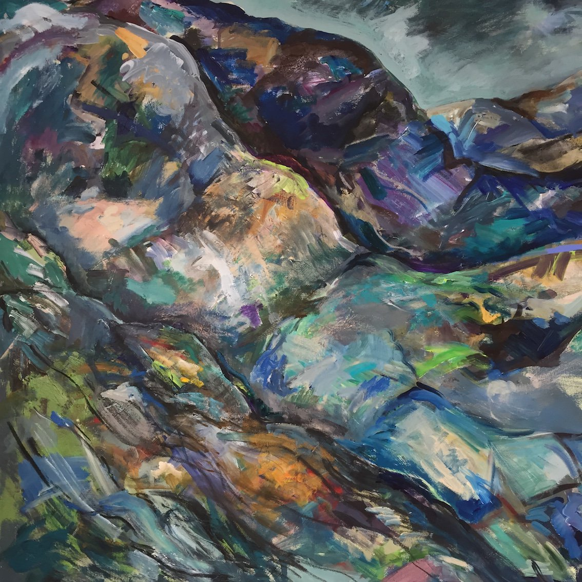 #exhibition @dotart showcases 3 landscape painters (Susan Cantrill-Williams + Dorothy Benjamin + Huw Lewis-Jones) autobiographical representations of their #Welsh heritage & historical interlinking of North #Wales & #Liverpool  18 Jan - 2 March 2019 https://dot-art.co.uk/exhibitions/