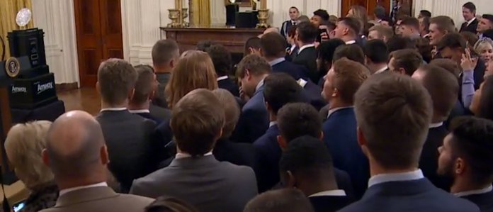Clemson Players Sing 'God Bless The USA' Before Trump Appearance https://t.co/eQvoPa2L83