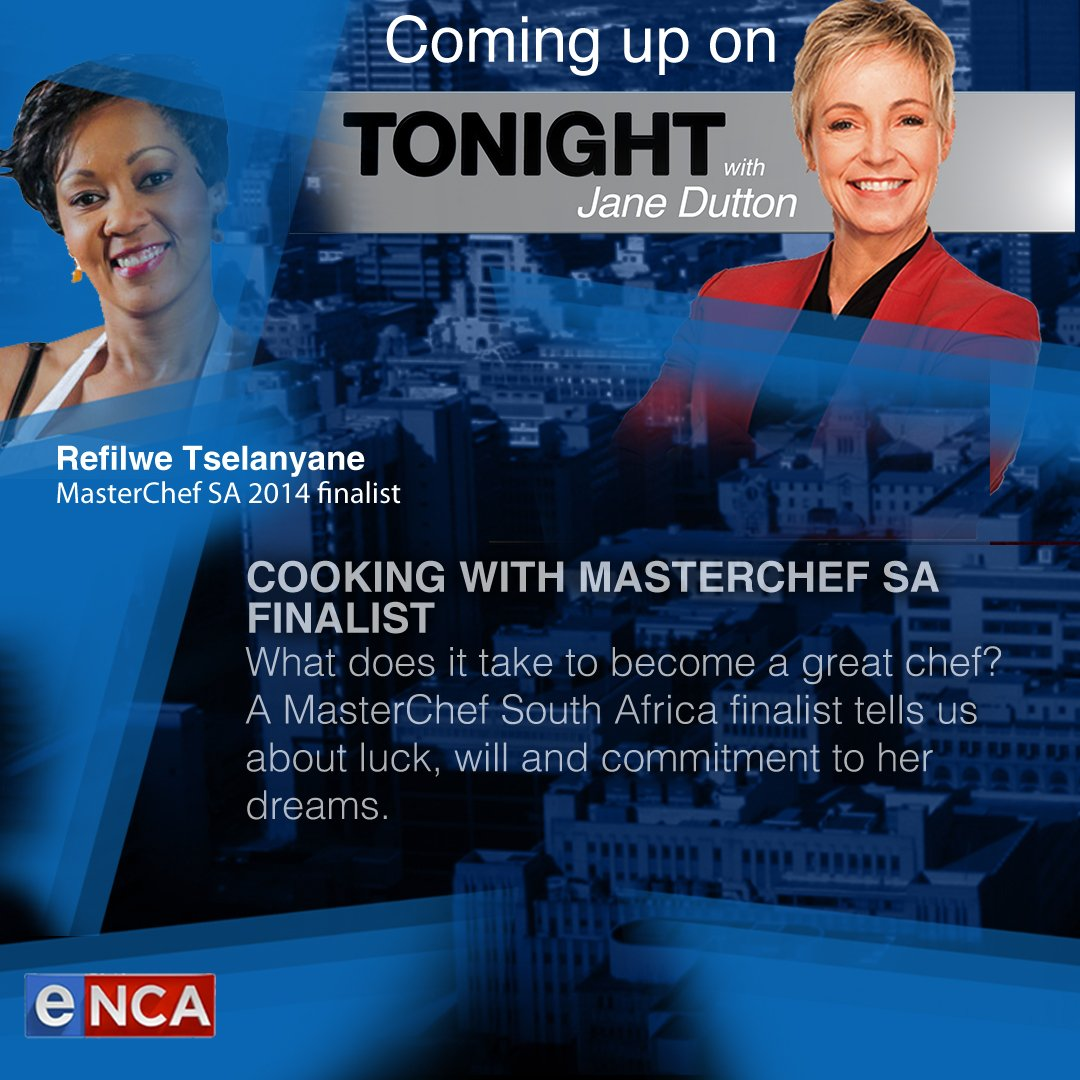 COOKING WITH MASTERCHEF SA FINALISTWhat does it take to become a great chef? A MasterChef South Africa finalist tells us about luck, will and commitment to her dreams. @janedutton #TonightWithJaneDutton Courtesy #DStv403