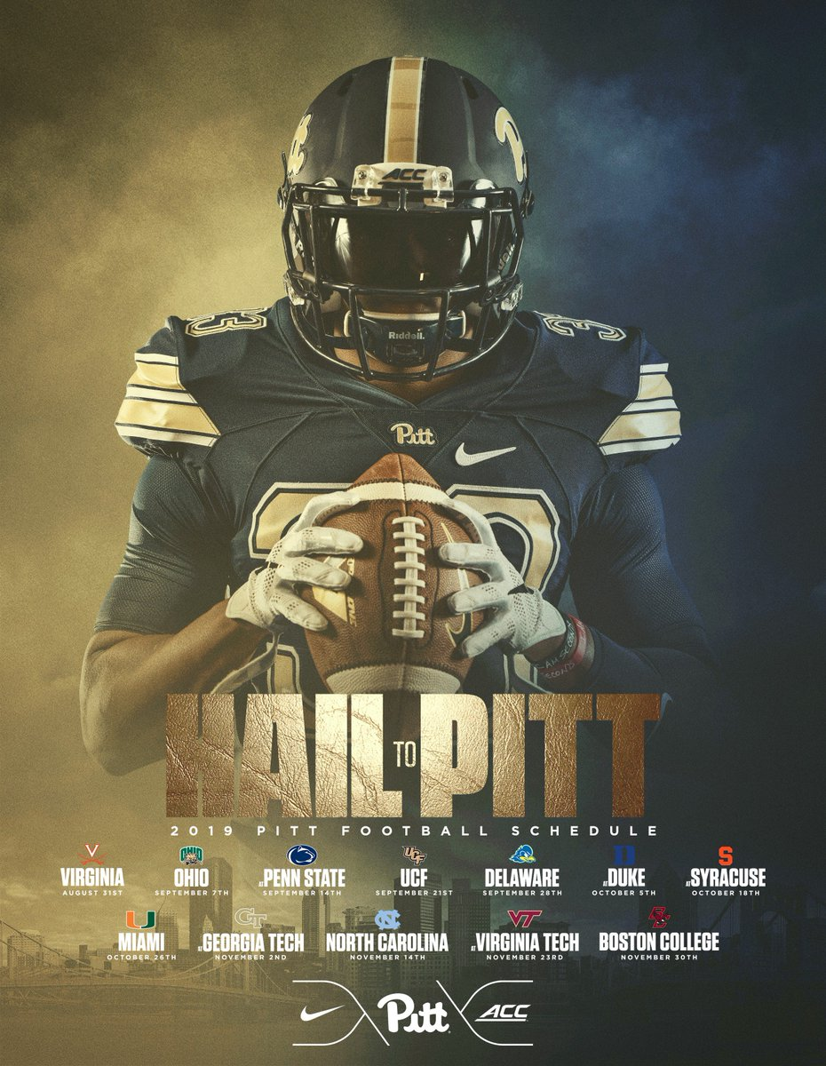 2019 Pitt Football Schedule Pitt Football on Twitter: