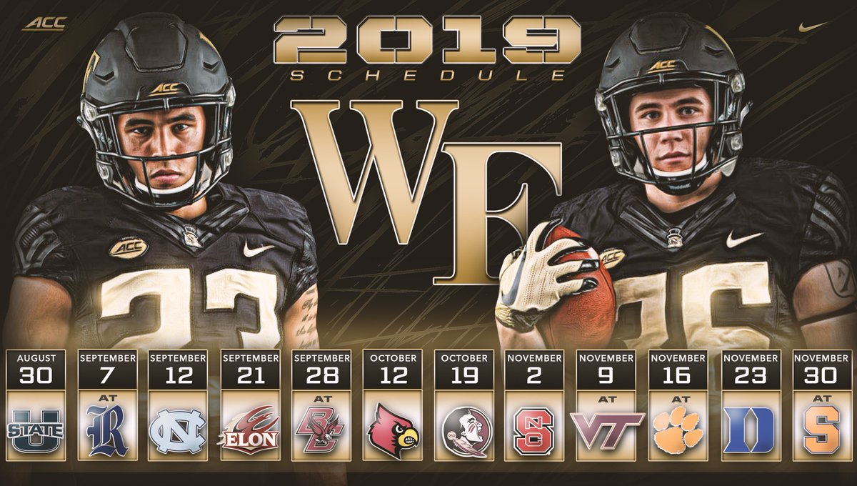 Wake Forest 2019 Football Schedule WF Football Recruiting on Twitter: