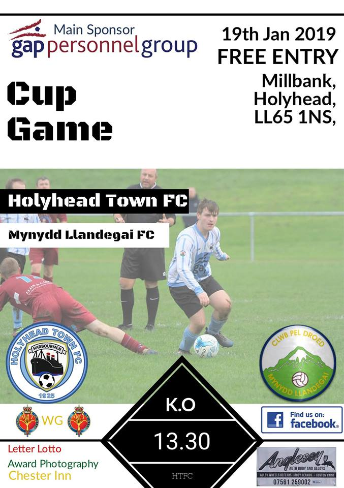 This Saturday we face higher league opposition in the cup. @CPDMynydd are the visitors to Millbank. 1.30 k.o. Come and cheer The Harbourmen on. #FreeEntry