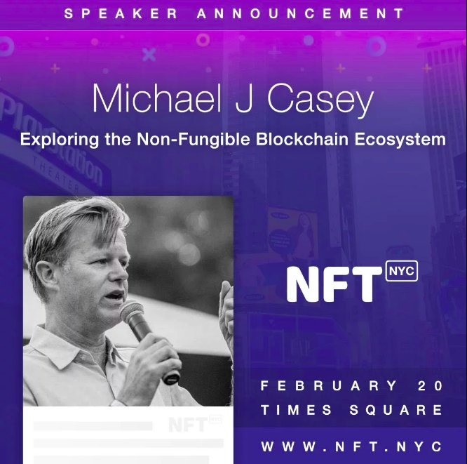 I'm looking forward to giving my 'Why NFTs are Important' presentation at https://t.co/ooHehvNK7T on Feb. 20 at the PlayStation Theater, Times Square NYC. Let's explore new models of value creation and exchange for a decentralized era of Web 3.0. https://t.co/KwjjbUUBzH