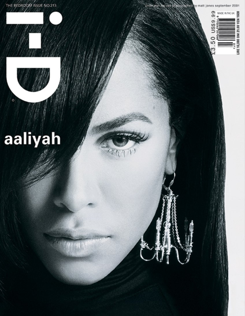 As today would have marked Aaliyah's 40th birthday, we're sharing her stunning appearance on the cover of i-D from 2001's The Bedroom Issue, shot by Matt Jones. 💖💖💖