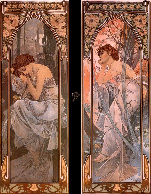 RT @fraveris: Evening reverie (nocturnal slumber), 1898, Alphonse Mucha https://t.co/kCm0xnLlew
