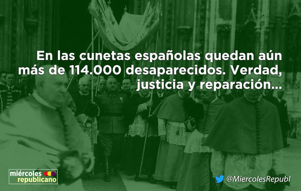 Por la Memoria Histórica #RepúblicaEsElFuturo ❤️💛💜