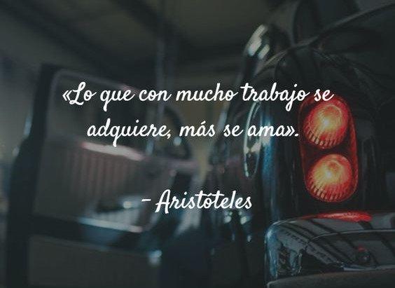 Lo que con mucho trabajo se adquiere, más se ama. - Aristóteles #BuenMiércoles #FelizMiércoles Foto