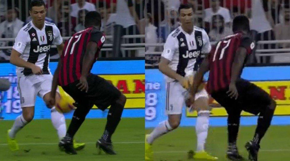 #SupercoppaJuventus-#Milan, braccio di #Zapata: i bianconeri chiedono il rigore.