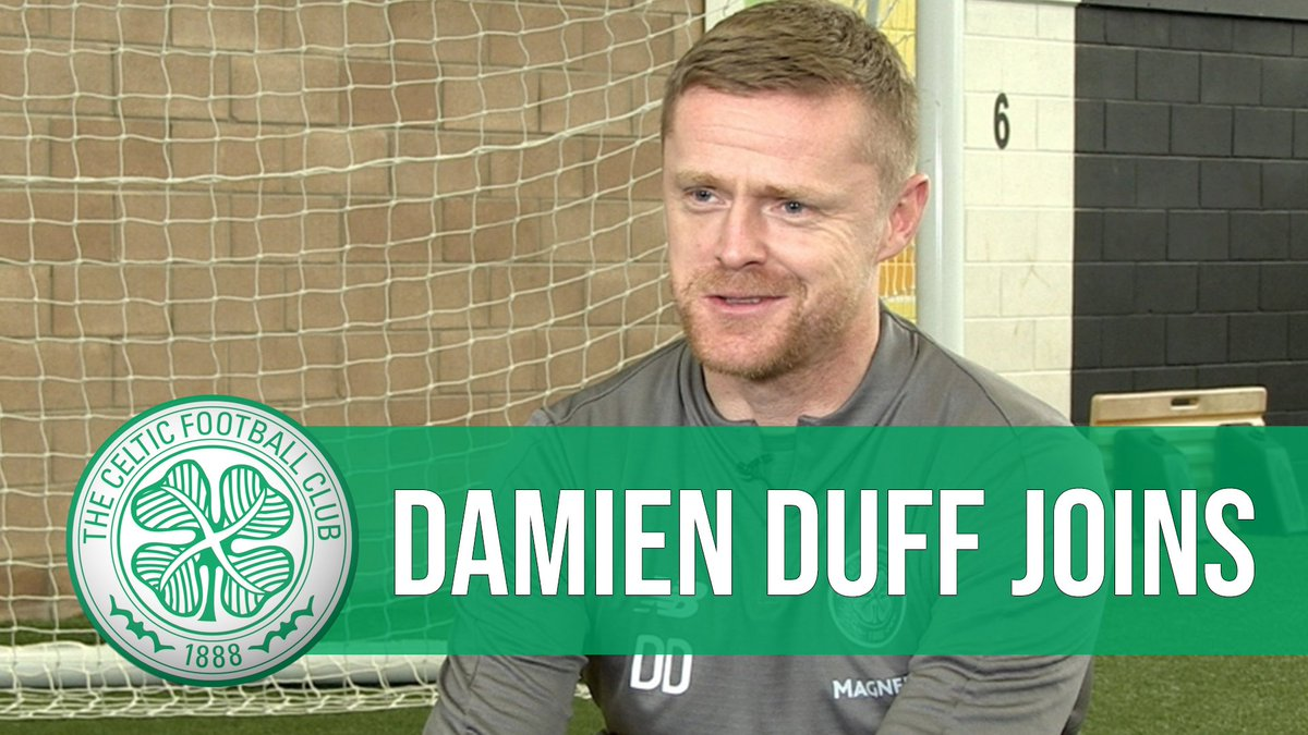 🇮🇪 @gerrymcculloch1 sits down with #CelticFC's new reserve coach Damien Duff.  'There's no other place in the world, or any other club, that I would have left Ireland for.' 🍀  Watch the interview on YouTube ▶️ https://t.co/MG21QpzSsb