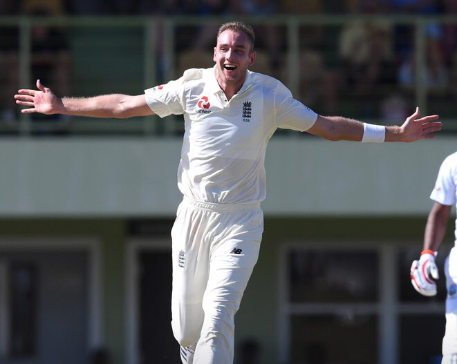 4 Wickets in 5 balls now for @StuartBroad8 as Blackwood falls for the 2nd time today.   CWI XI 137 for 13 with new Test batsman John Campbell also run out for 1.   It's the second time he's been dismissed today.   #bbccricket