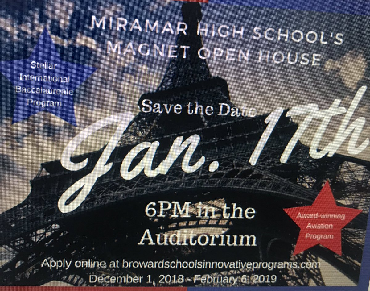 Calling all future Patriots... Come join us for our magnet open house! Over 18 mil in scholarships, dual enrollment opportunities and so much more! #PatriotScholars!