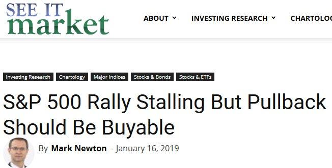 こういう意見が多いです。これは一例、ニュートンさんの見方です。「上にはいくつものレジスタンスレベルが控え、S&P500指数の次の動きは下げになるだろう。しかし、下げは良い押し目買いの機会になる筈だ。」