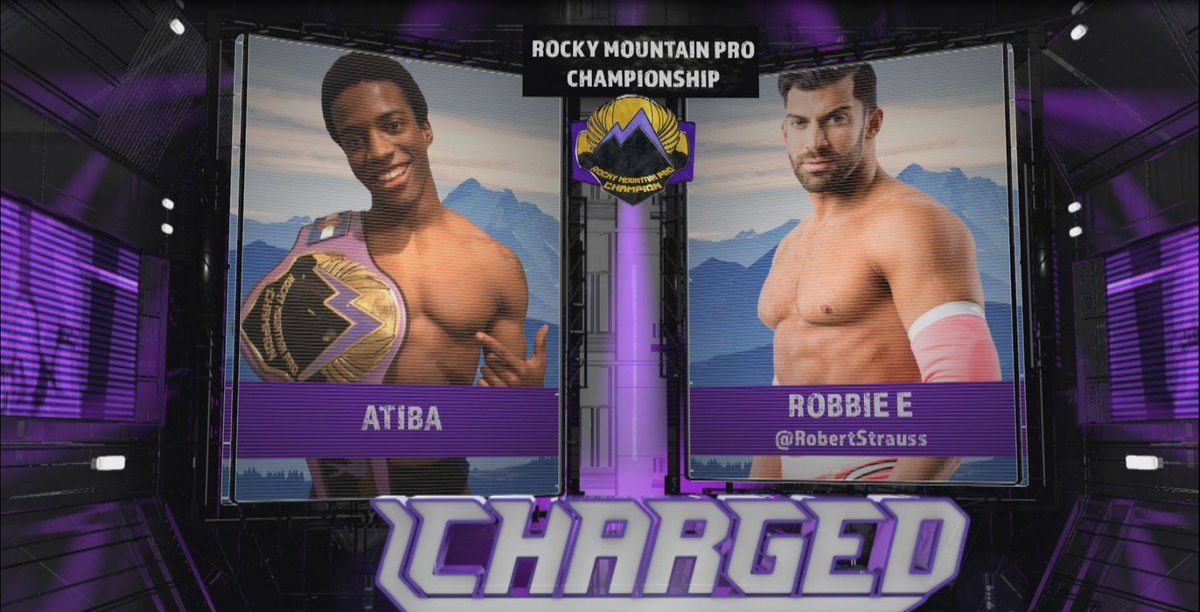 Main Event for Thursday's LIVE episode of Charged!Former Impact star Robbie E. takes on Atiba for the RMP Championship. Get tickets or watch it live on @Twitch at 7pMT #Ignition #Charged #RMP #MPWA #ProWrestling..#Elevated #Twitch #Athletics #Performance #TV #Colorado #LiveStream