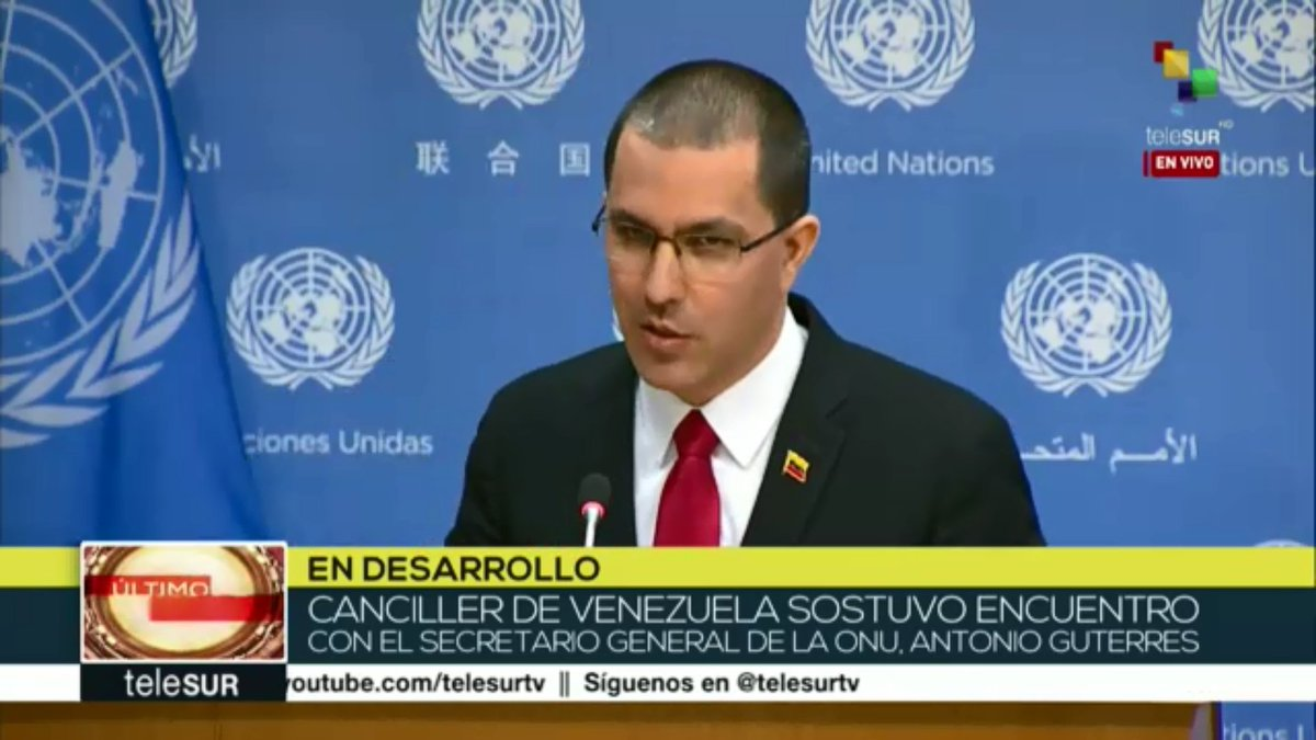 #Live | @jaarreaza: 'Venezuela is suffering from coercive measures taken by the  United States' government.'