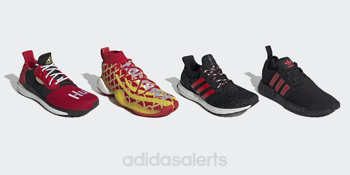 sale retailer 6f8d7 bac0c adidas unveils their 2019 Chinese New Year collection, featuring the  Pharrell Solar Hu Glide, Pharrell Crazy BYW X, Ultra Boost 4.0, NMDR1,  and more, ...