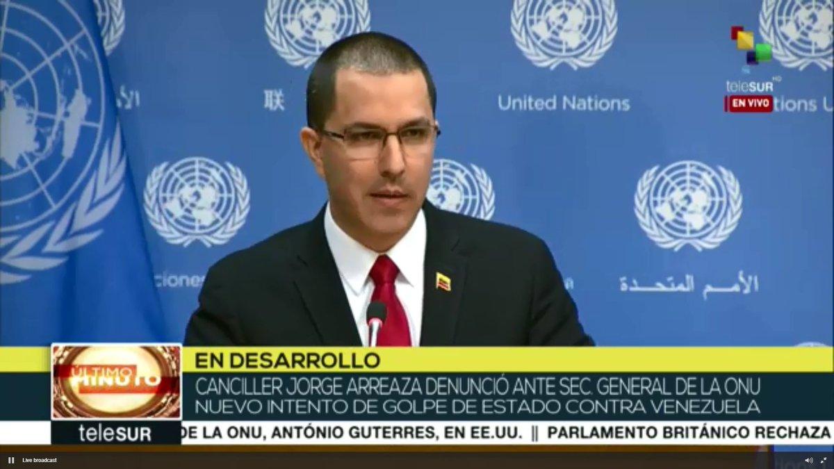 #Live | @jaarreaza: 'Venezuela has a united people ready to defend the motherland.'