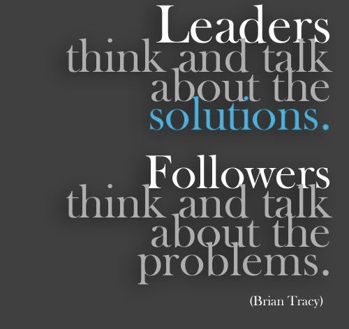Some people see problems with every solution but successful people see solutions for every problem.