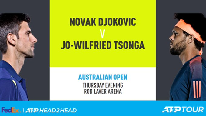 .@DjokerNole vs. @tsonga7, XXIII Who you got? #AusOpen Photo