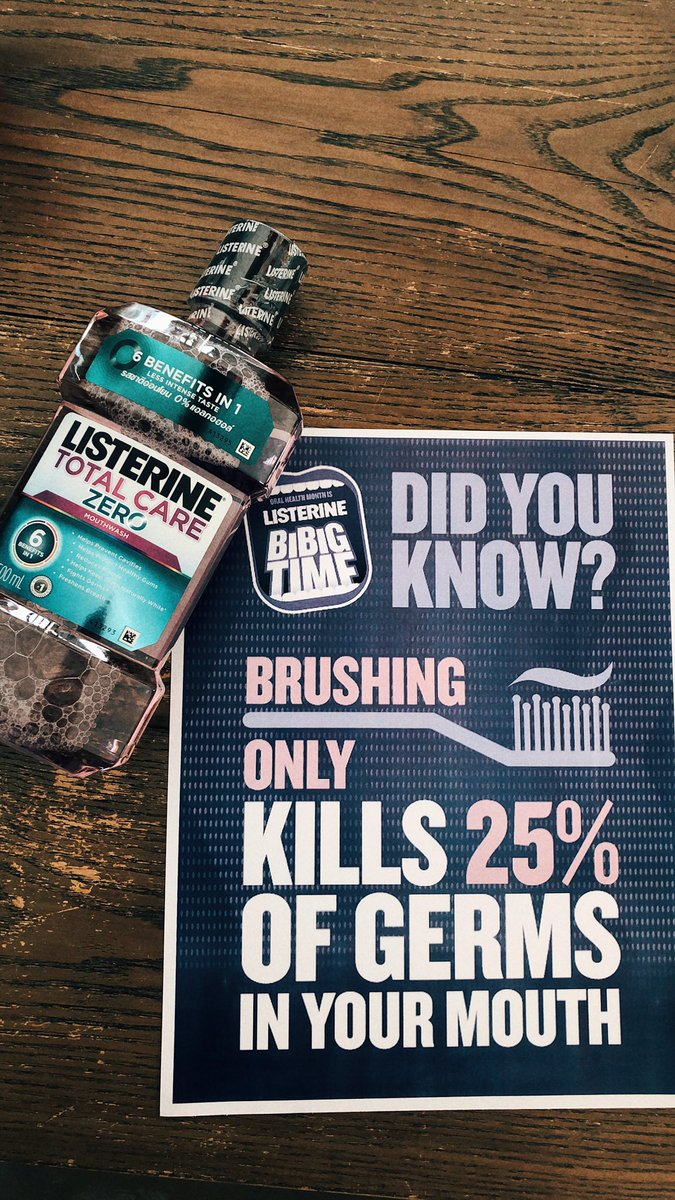 Listerine Total Care gives you 6 benefits in 1 bottle so you can best take care of your mouth, most especially this coming February when it's Oral Health Month & It's Listerine Bibig Time.   #ListerinePH #ListerineBigBigTime   http:// fb.com/ListerinePhili ppines   … <br>http://pic.twitter.com/kQRsFHzO8F