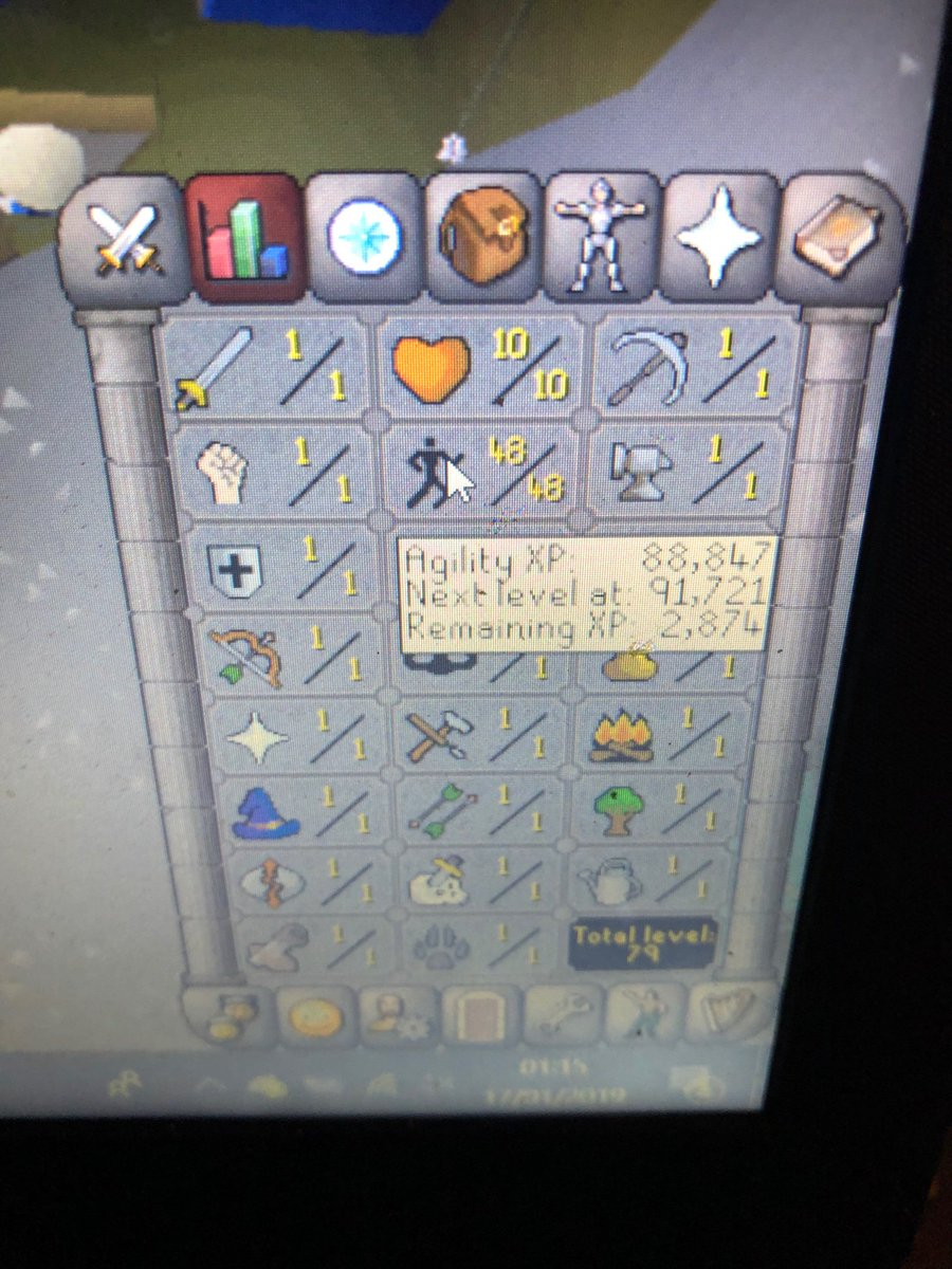 Journey From 50 99 Agil Drop A Like And Ill Link Videos To YouTube Channel Agility Beast 4h Old Account Legend Fuck The Shit Skillers