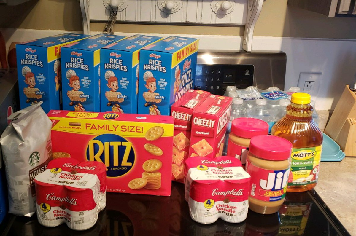 A few days ago we interviewed Matt Kampf, a federal wildland firefighter in Colorado going unpaid. His family was trying to save by foregoing Rice Krispies for the store brand.   He sent this photo of what showed up on his doorstep: