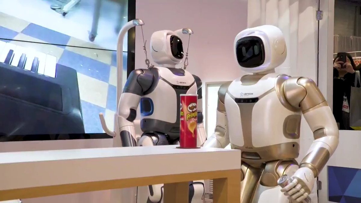 Robots might take our jobs one day, but on the bright side bots like this one from UBTech will fetch us Diet Coke and Pringles in the meantime https://t.co/2FhHrRwklf