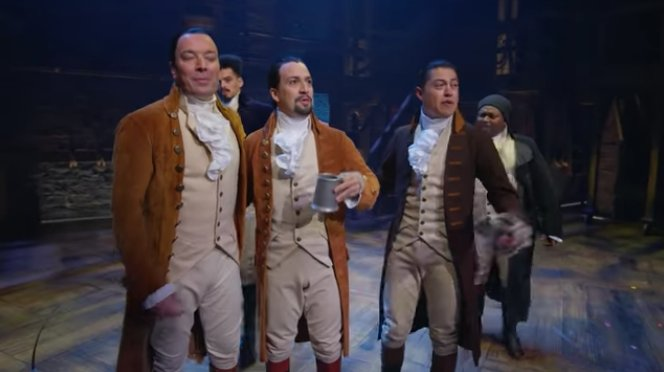 See Lin-Manuel Miranda and the #HamiltonBway cast perform 'The Story of Tonight' with Jimmy Fallon on #FallonTonight https://t.co/3Vu5bQ1sJF