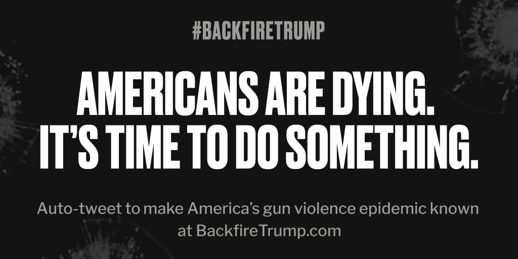 Another life just lost in #Texas. #POTUS, please end the suffering. #BackfireTrump