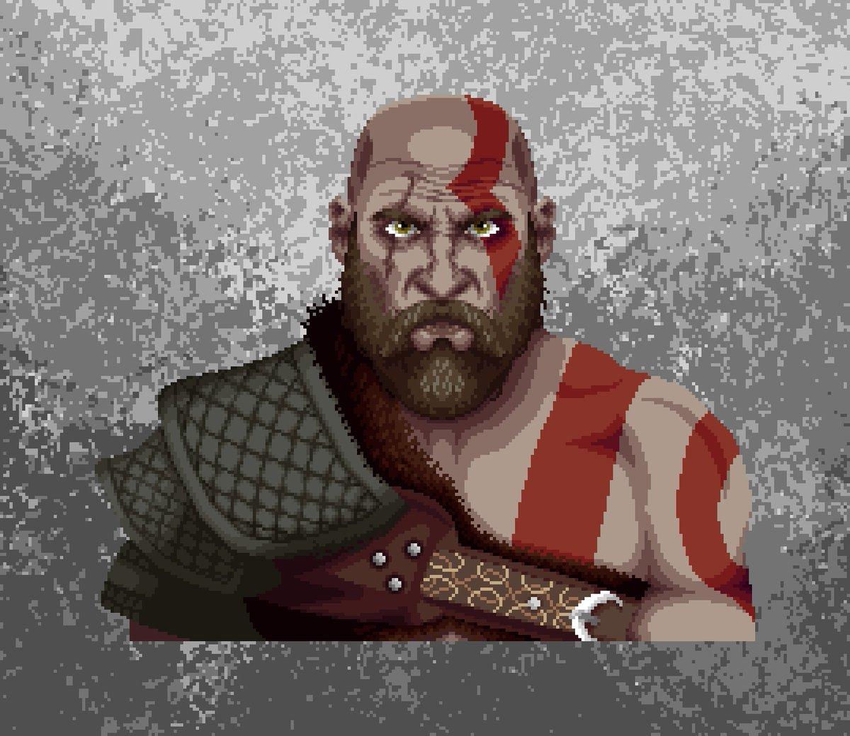 Lhiuskas On Twitter Kratos God Of War 4 Pixelart