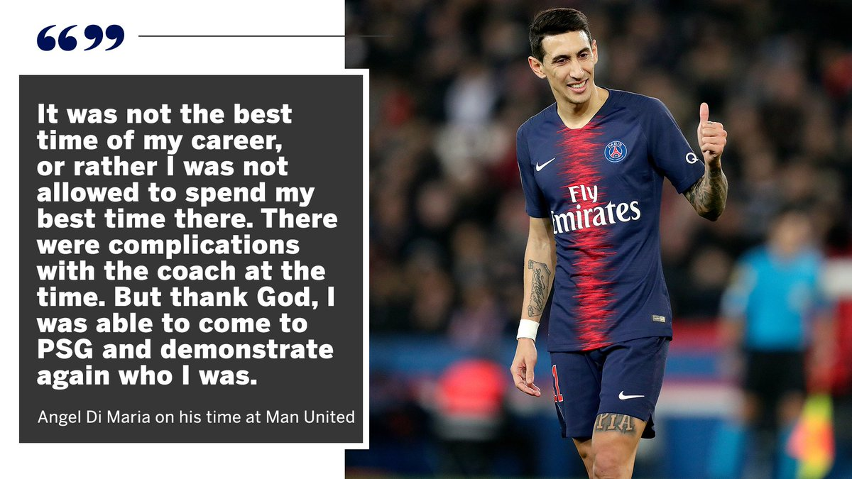 He was only a Manchester United player for one year, but Angel Di Maria has opened up about what went wrong... 👀 https://t.co/ENSL8yKDUM