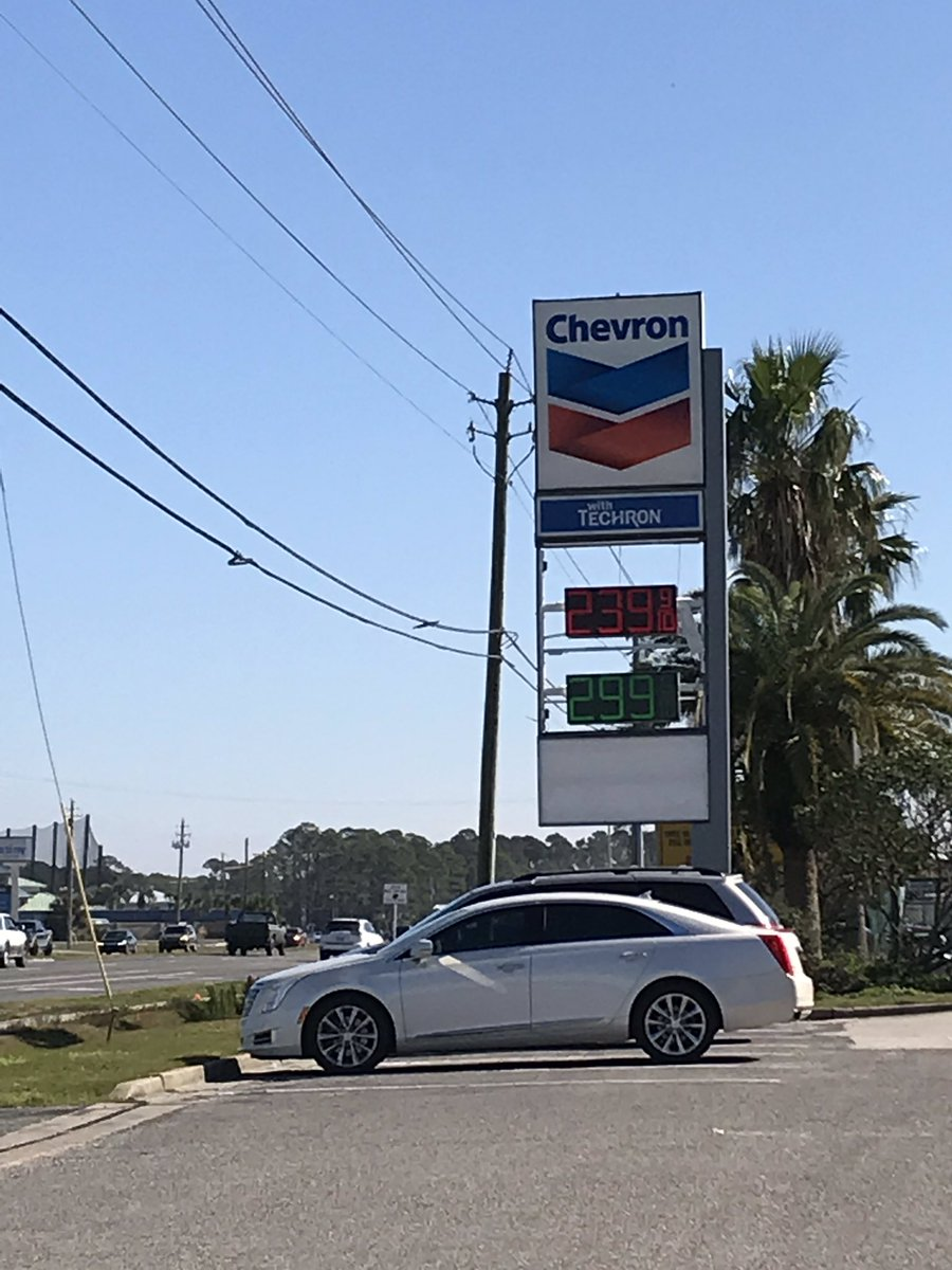 GAS GAS GAS!  Who IS responsible for the high #gasprices? How do the counties affected by #hurricanemichael compare to others in Florida? You don't want to miss my story tonight on @WMBBTV at 6!<br>http://pic.twitter.com/k9Ohu9XUt3