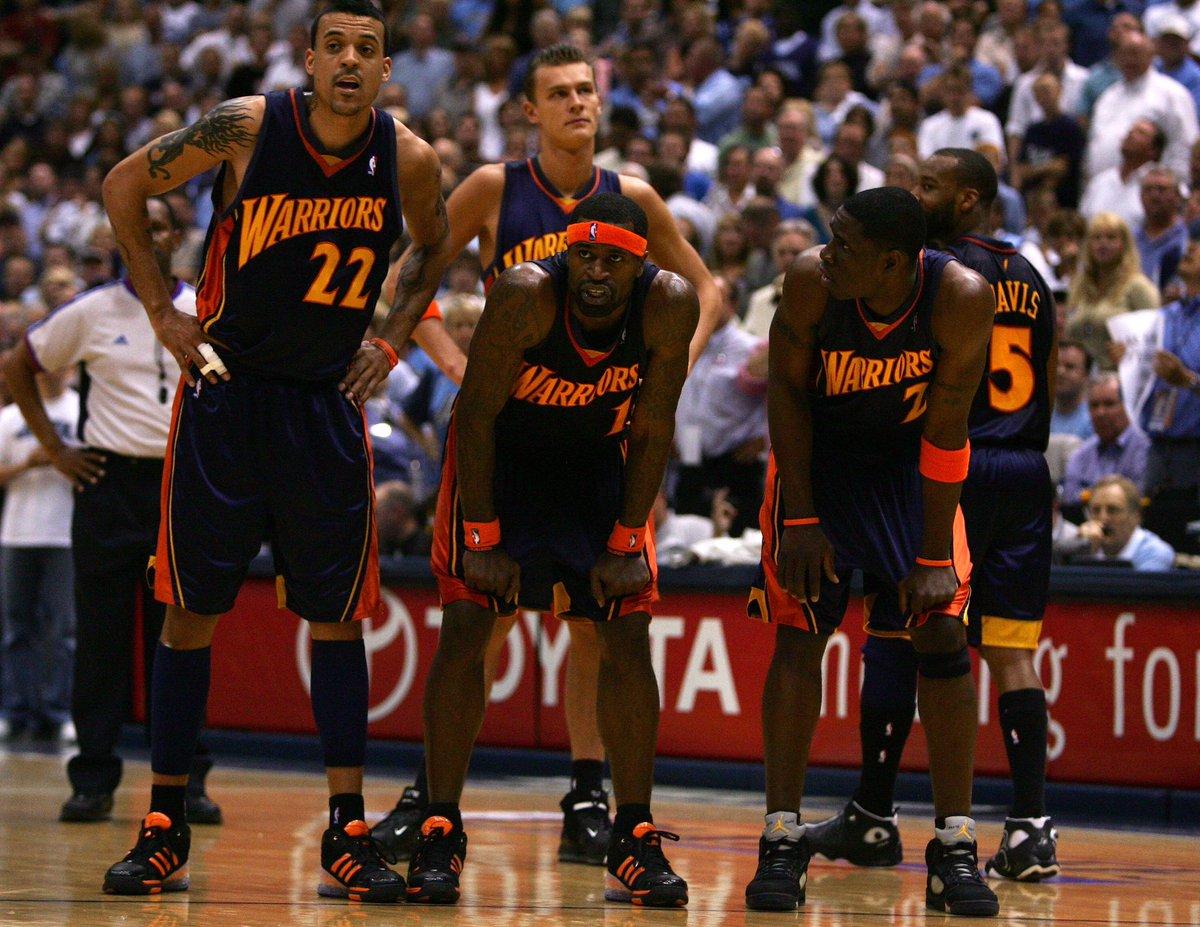 (2007) Barnes, Jackson, Biedrins, Pietrus, Davis.  <br>http://pic.twitter.com/LQv357jaEL