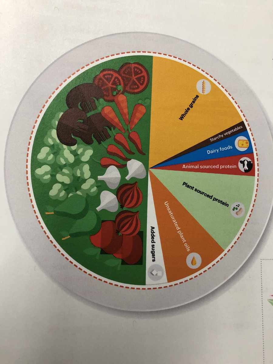 """Here is the new """"healthy food plate"""" according to @EATforum recommendations.<br>http://pic.twitter.com/maVcZikrT3"""