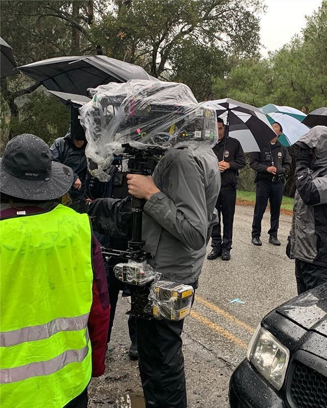 This is what it looks like to shoot in the rain. I'd like to thank the crew of #therookie for suffering through these last few days. You are cold, wet, and the best. https://t.co/dz25Pvu32B