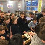 Image for the Tweet beginning: STEM Club built bridges and