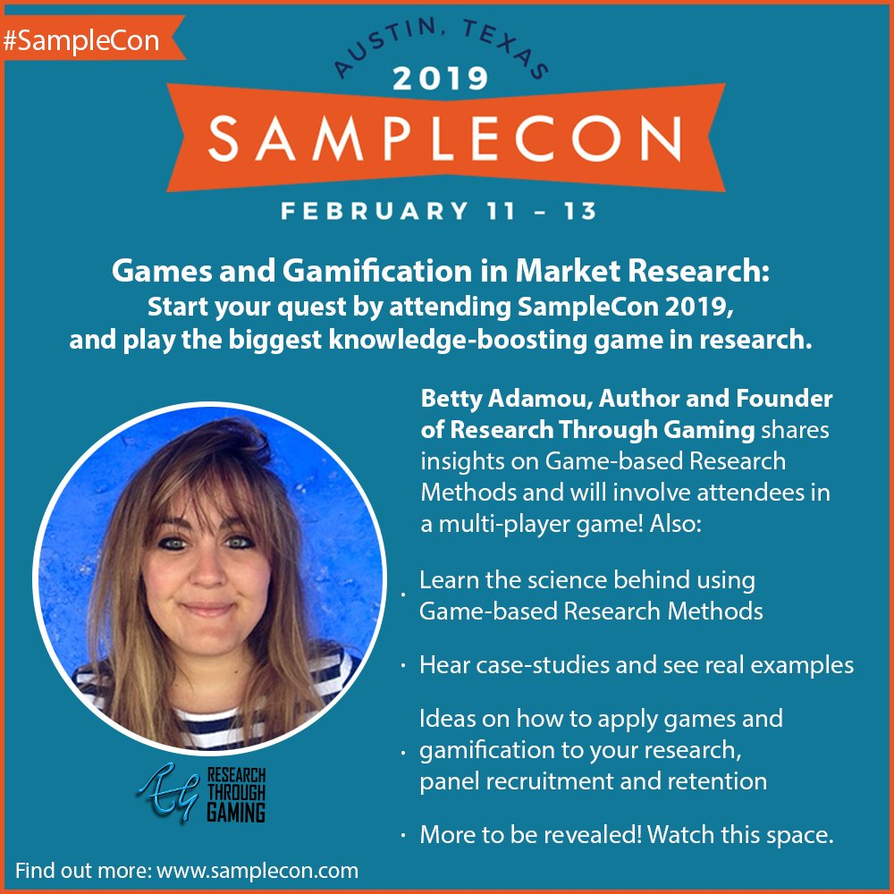 How exciting Betty! See you at #Samplecon!