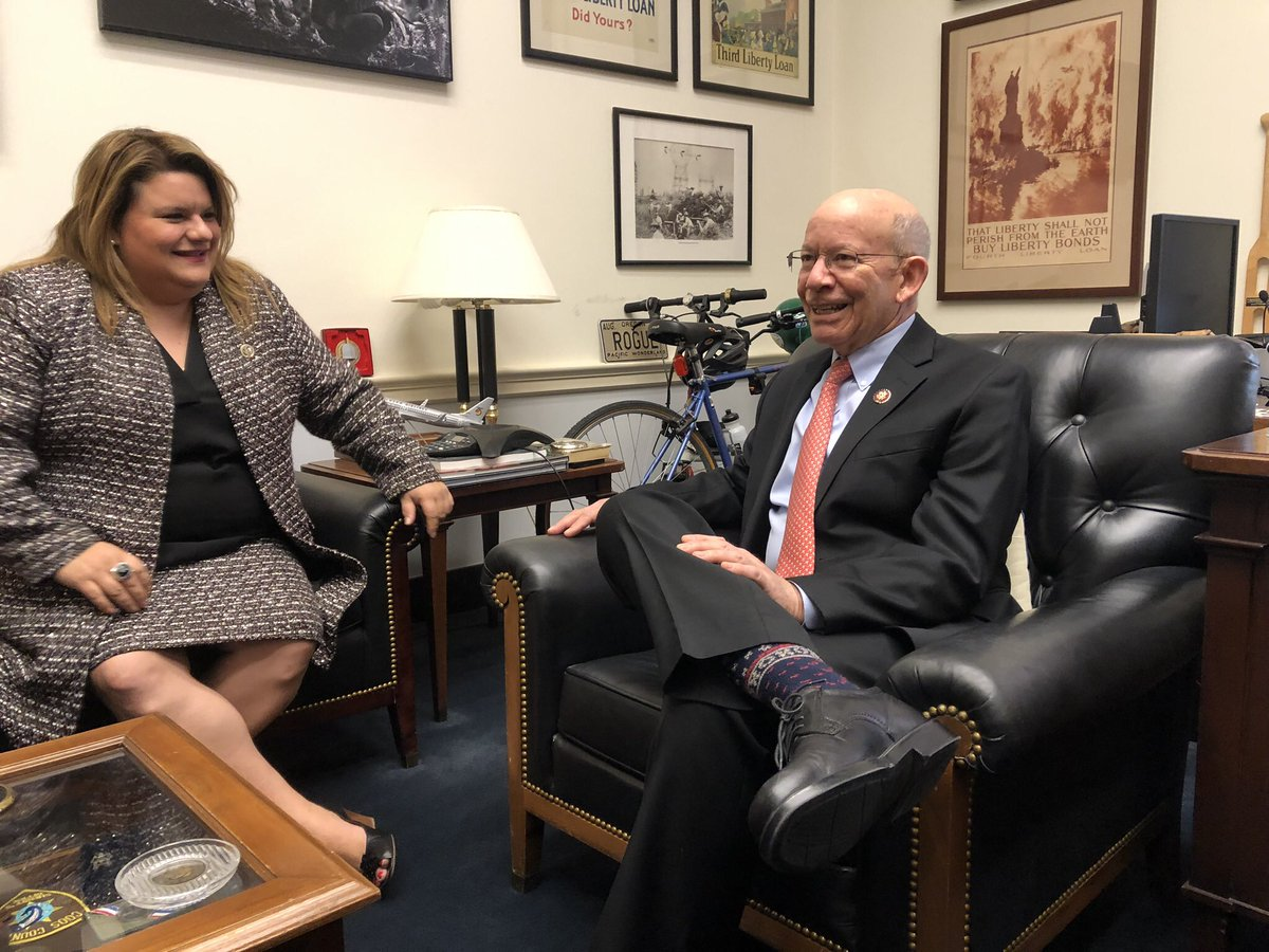 Meeting with the Chairman of the Transportation and Infrastructure Committee, @RepPeterDeFazio discussing top priorities for the 116th Congress.
