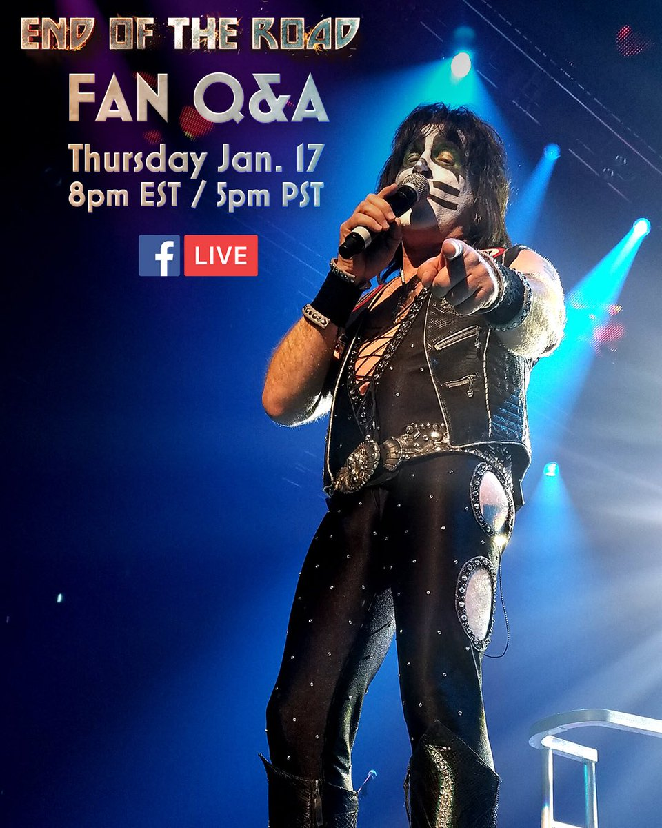 Tune in on our Facebook tomorrow at 8pm EST / 5pm PST for an #EndOfTheRoad Q&amp;A live from tour rehearsals! Send Eric your questions below. <br>http://pic.twitter.com/Yz7et1yBnz