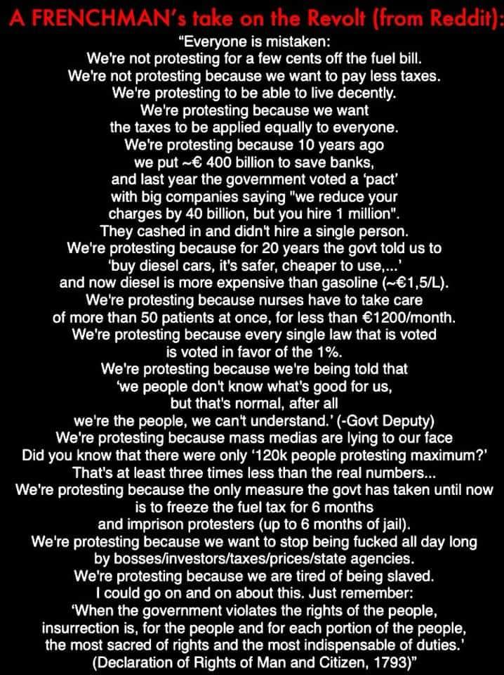 Please take note #USA !  Vive Les #GiletsJaunes #YellowVests <br>http://pic.twitter.com/B9Dcsqi6fK